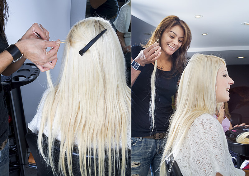 Hair extensions quick tutorial before and after hair extensions pmusecretfo Images